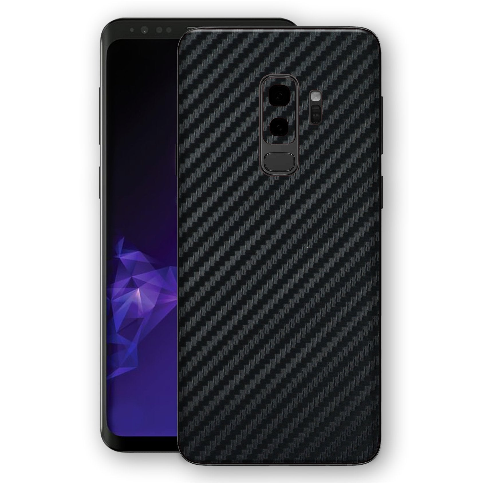Samsung Galaxy S9+ PLUS 3D Textured Black Carbon Fibre Fiber Skin, Decal, Wrap, Protector, Cover by EasySkinz | EasySkinz.com