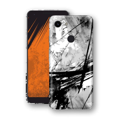 Google Pixel 3a XL Print Custom Signature Abstract Black & White 2 Skin Wrap Decal by EasySkinz - Design 2
