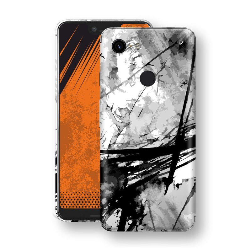 Google Pixel 3 XL Print Custom Signature Abstract Black & White 2 Skin Wrap Decal by EasySkinz - Design 2