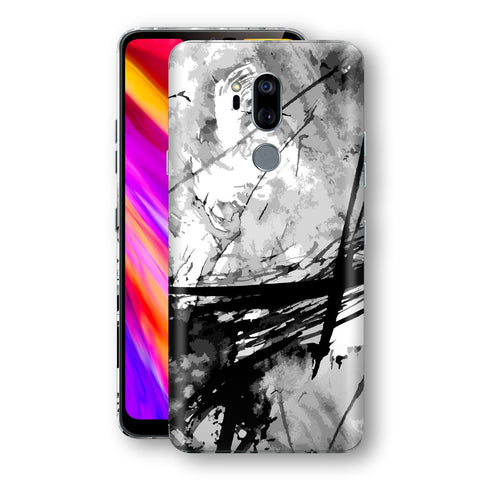 LG G7 ThinQ Print Custom Signature Abstract Black & White 2 Skin Wrap Decal by EasySkinz - Design 2
