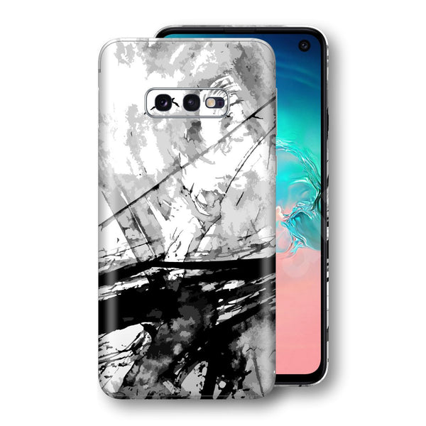 Samsung Galaxy S10e Print Custom Signature Abstract Black & White 2 Skin Wrap Decal by EasySkinz - Design 2