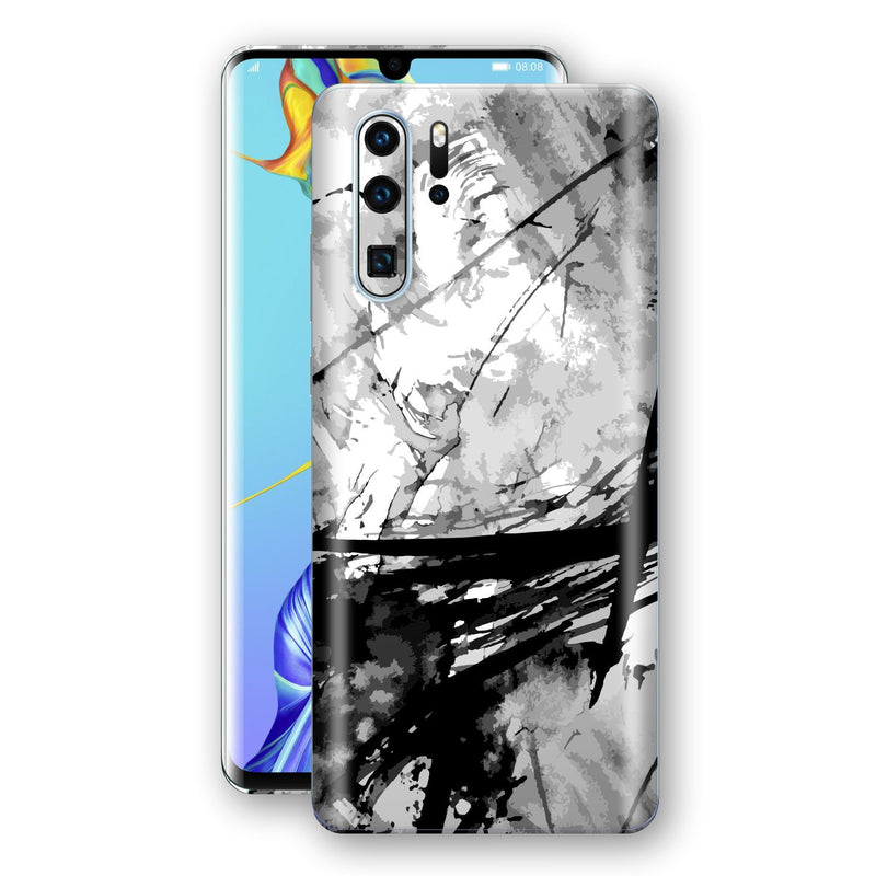 Huawei P30 PRO Print Custom Signature Abstract Black & White 2 Skin Wrap Decal by EasySkinz - Design 2