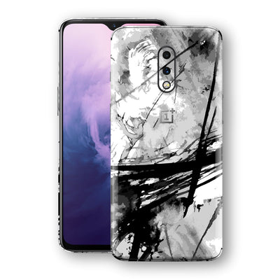 OnePlus 7 Print Custom Signature Abstract Black & White 2 Skin Wrap Decal by EasySkinz - Design 2