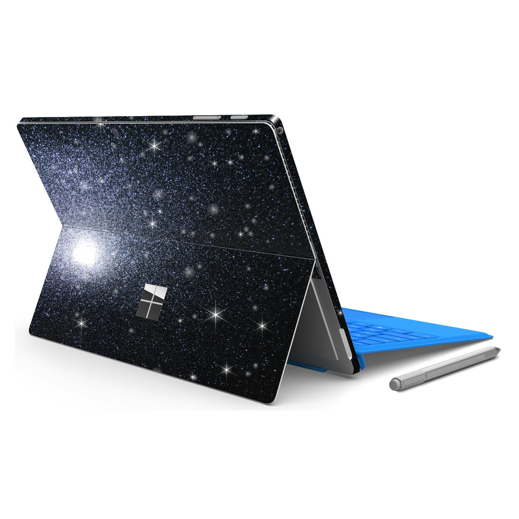 Microsoft Surface PRO 4 Diamond Black Shimmering Glitter Skin Wrap Sticker Decal Cover Protector by EasySkinz