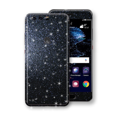 Huawei P10+ PLUS  Diamond Black Shimmering, Sparkling, Glitter Skin, Decal, Wrap, Protector, Cover by EasySkinz | EasySkinz.com