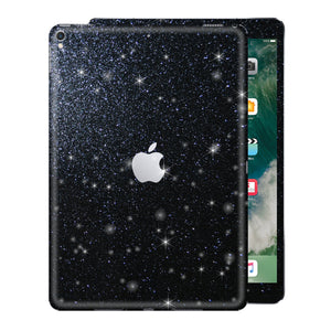 "iPad PRO 10.5"" inch 2017 Diamond BLACK Glitter Shimmering Skin Wrap Sticker Decal Cover Protector by EasySkinz"