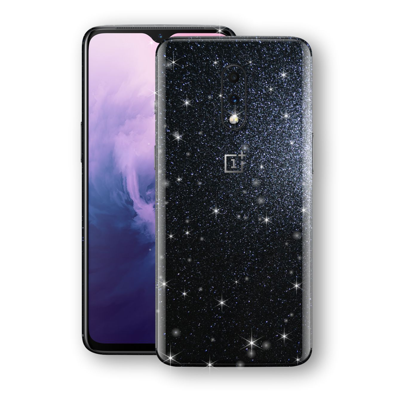 OnePlus 7 Diamond Black Shimmering, Sparkling, Glitter Skin, Decal, Wrap, Protector, Cover by EasySkinz | EasySkinz.com