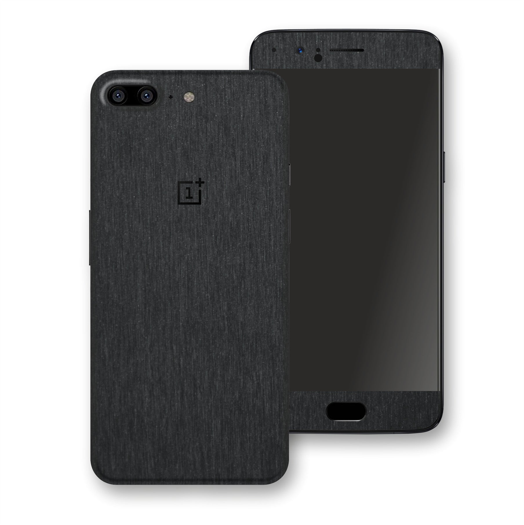 OnePlus 5 Brushed Black Metallic Metal Skin, Decal, Wrap, Protector, Cover by EasySkinz | EasySkinz.com