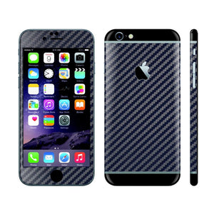 iPhone 6S PLUS NAVY BLUE Carbon Fibre Fiber Skin with Black Matt Highlights Cover Decal Wrap Protector Sticker by EasySkinz