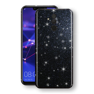 Huawei MATE 20 LITE Diamond Black Shimmering, Sparkling, Glitter Skin, Decal, Wrap, Protector, Cover by EasySkinz | EasySkinz.com