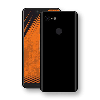 Google Pixel 3 XL Black Glossy Gloss Finish Skin, Decal, Wrap, Protector, Cover by EasySkinz | EasySkinz.com