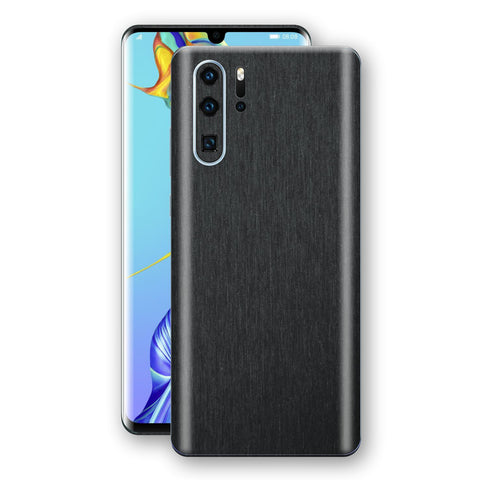 Huawei P30 PRO Brushed Black Metallic Metal Skin, Decal, Wrap, Protector, Cover by EasySkinz | EasySkinz.com
