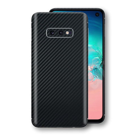 Samsung Galaxy S10e 3D Textured Black Carbon Fibre Fiber Skin, Decal, Wrap, Protector, Cover by EasySkinz | EasySkinz.com