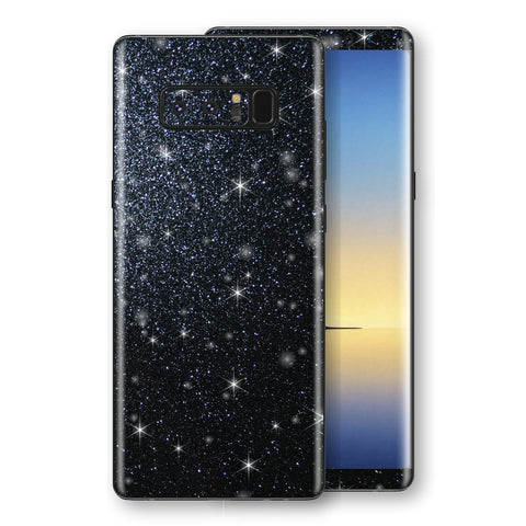 Samsung Galaxy NOTE 8 Diamond Black Shimmering, Sparkling, Glitter Skin, Decal, Wrap, Protector, Cover by EasySkinz | EasySkinz.com