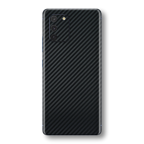 Samsung Galaxy S10 LITE 3D Textured Black Carbon Fibre Fiber Skin Wrap Sticker Decal Cover Protector by EasySkinz
