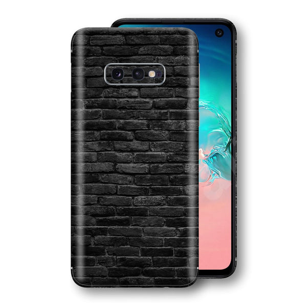 Samsung Galaxy S10e Print Custom Signature Black Bricks Skin Wrap Decal by EasySkinz