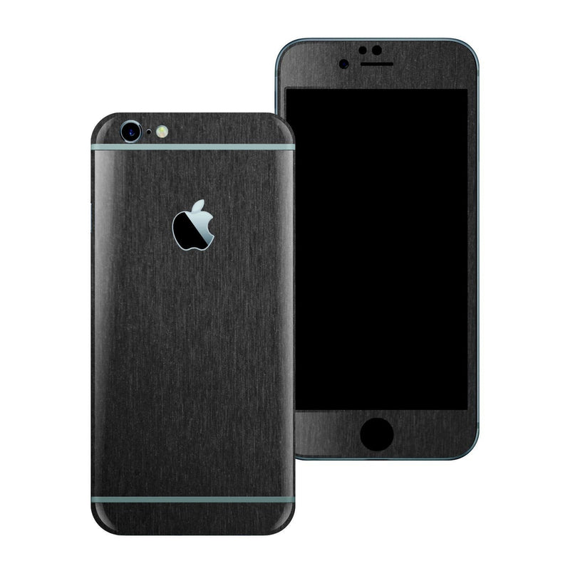 iPhone 6S 3M Brushed Black Metallic Skin Wrap Sticker Cover Protector Decal by EasySkinz