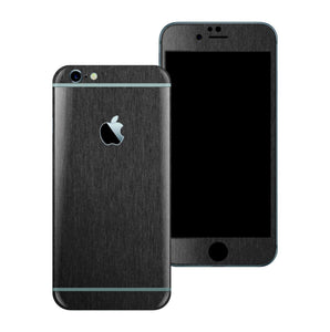 iPhone 6S PLUS 3M Brushed Black Metallic Skin Wrap Sticker Cover Protector Decal by EasySkinz