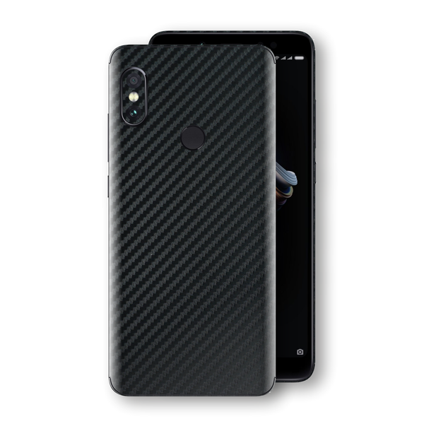 XIAOMI Redmi NOTE 5 3D Textured Black Carbon Fibre Fiber Skin, Decal, Wrap, Protector, Cover by EasySkinz | EasySkinz.com