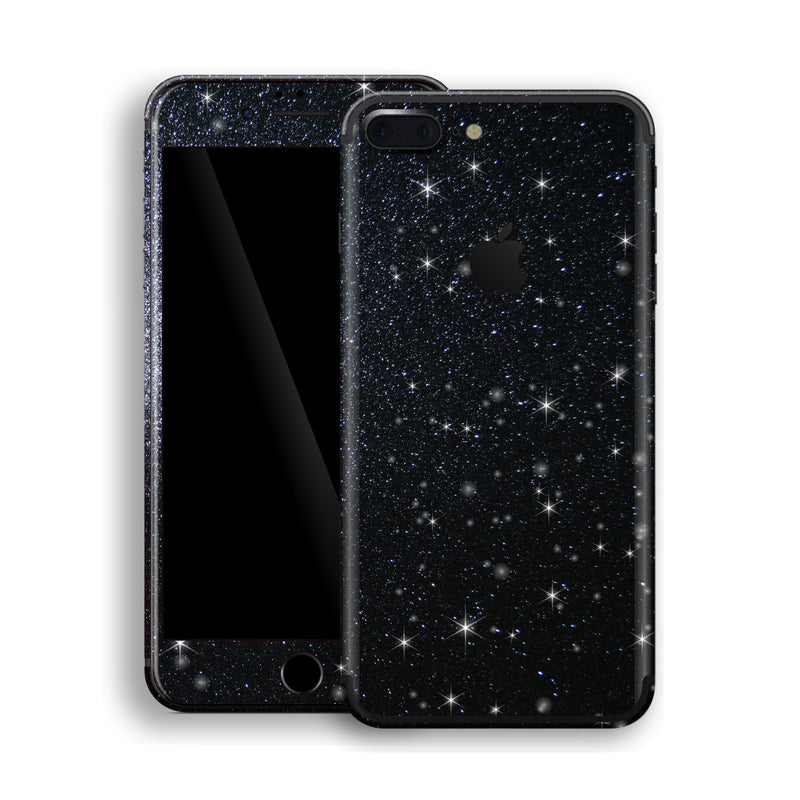 iPhone 7 Plus Diamond Black Shimmering, Sparkling, Glitter Skin, Decal, Wrap, Protector, Cover by EasySkinz | EasySkinz.com