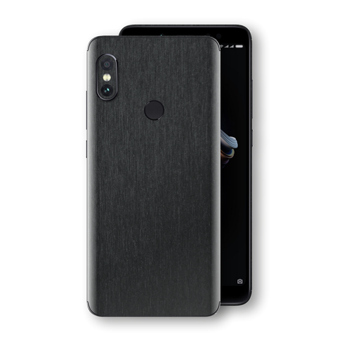 XIAOMI Redmi NOTE 5 Brushed Black Metallic Metal Skin, Decal, Wrap, Protector, Cover by EasySkinz | EasySkinz.com