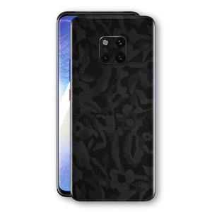 Huawei MATE 20 PRO Black Camo Camouflage 3D Textured Skin Wrap Decal Protector | EasySkinz