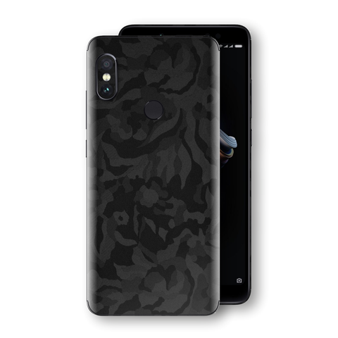XIAOMI Redmi NOTE 5 Black Camo Camouflage 3D Textured Skin Wrap Decal Protector | EasySkinz