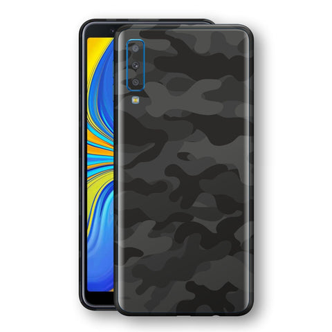 Samsung Galaxy A7 (2018) Signature DARK SLATE CAMO Camouflage Skin Wrap Decal Cover by EasySkinz