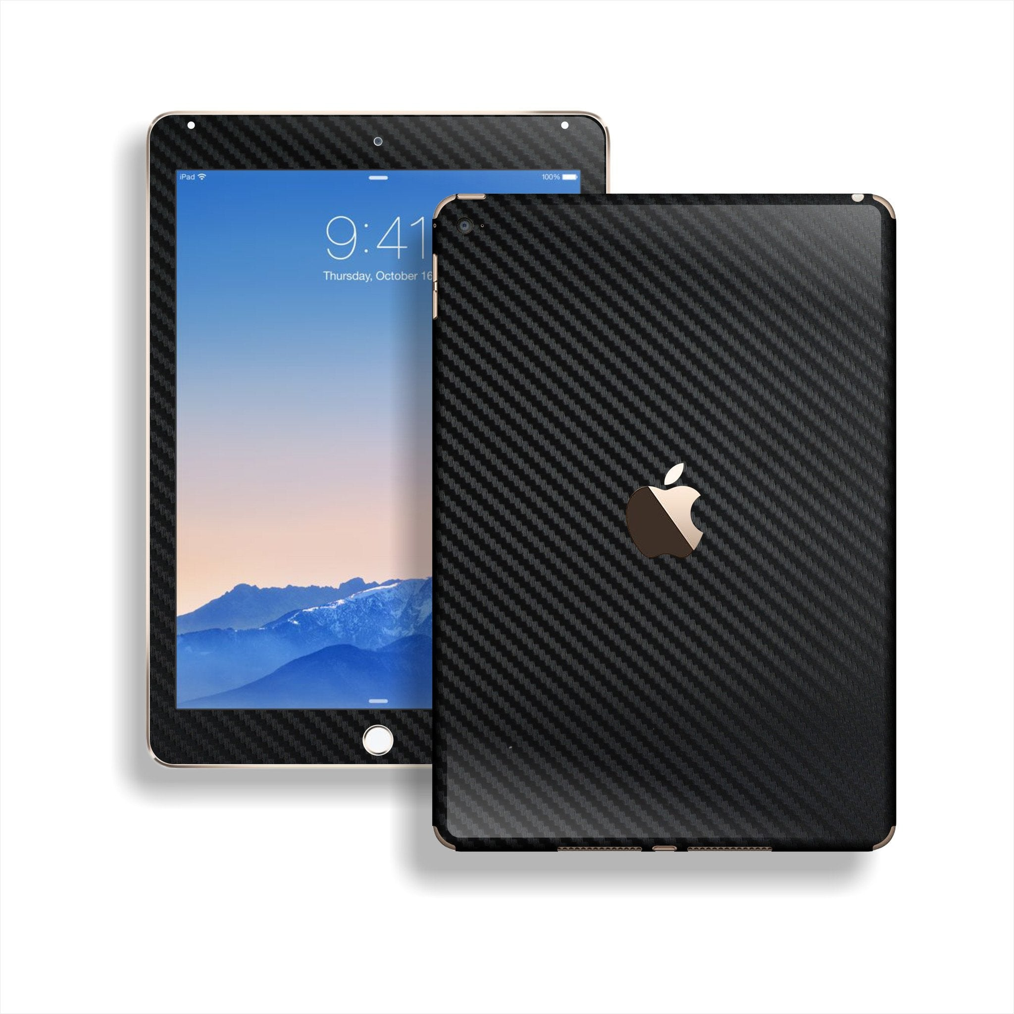 iPad Air 2 Black CARBON Fibre Fiber Skin Wrap Sticker Decal Cover Protector by EasySkinz