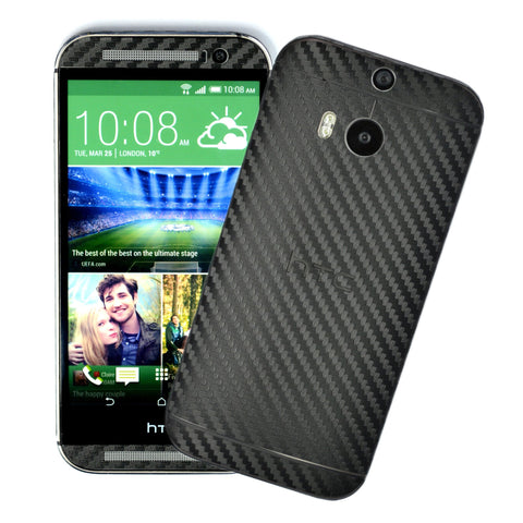 black carbon fibre skin for Htc One M8