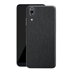 Huawei P20 Brushed Black Metallic Metal Skin, Decal, Wrap, Protector, Cover by EasySkinz | EasySkinz.com