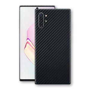 Samsung Galaxy NOTE 10+ PLUS 3D Textured Black Carbon Fibre Fiber Skin, Decal, Wrap, Protector, Cover by EasySkinz | EasySkinz.com