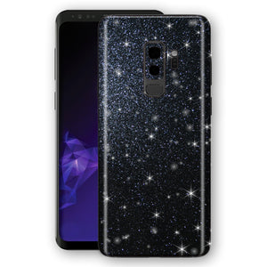 Samsung GALAXY S9+ PLUS Diamond Black Shimmering, Sparkling, Glitter Skin, Decal, Wrap, Protector, Cover by EasySkinz | EasySkinz.com
