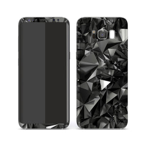 Samsung Galaxy S8 Print Custom Signature Black Crystals Crystal Skin Wrap Decal by EasySkinz