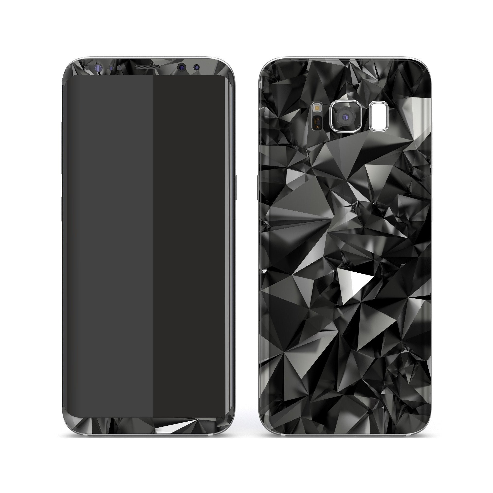 Samsung Galaxy S8+ Print Custom Signature Black Crystals Crystal Skin Wrap Decal by EasySkinz