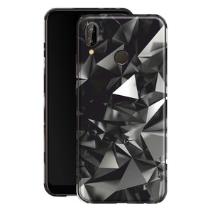 Huawei P20 LITE Print Custom Signature Black Crystals Skin Wrap Decal by EasySkinz