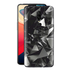 OnePlus 6 Signature Black Crystals Skin Wrap Decal Cover by EasySkinz