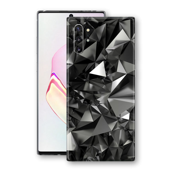 Samsung Galaxy NOTE 10+ PLUS Signature Black Crystals Skin Wrap Decal Cover by EasySkinz