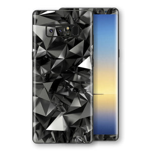 Samsung Galaxy NOTE 8 Print Custom Signature Black Crystals Crystal Skin Wrap Decal by EasySkinz