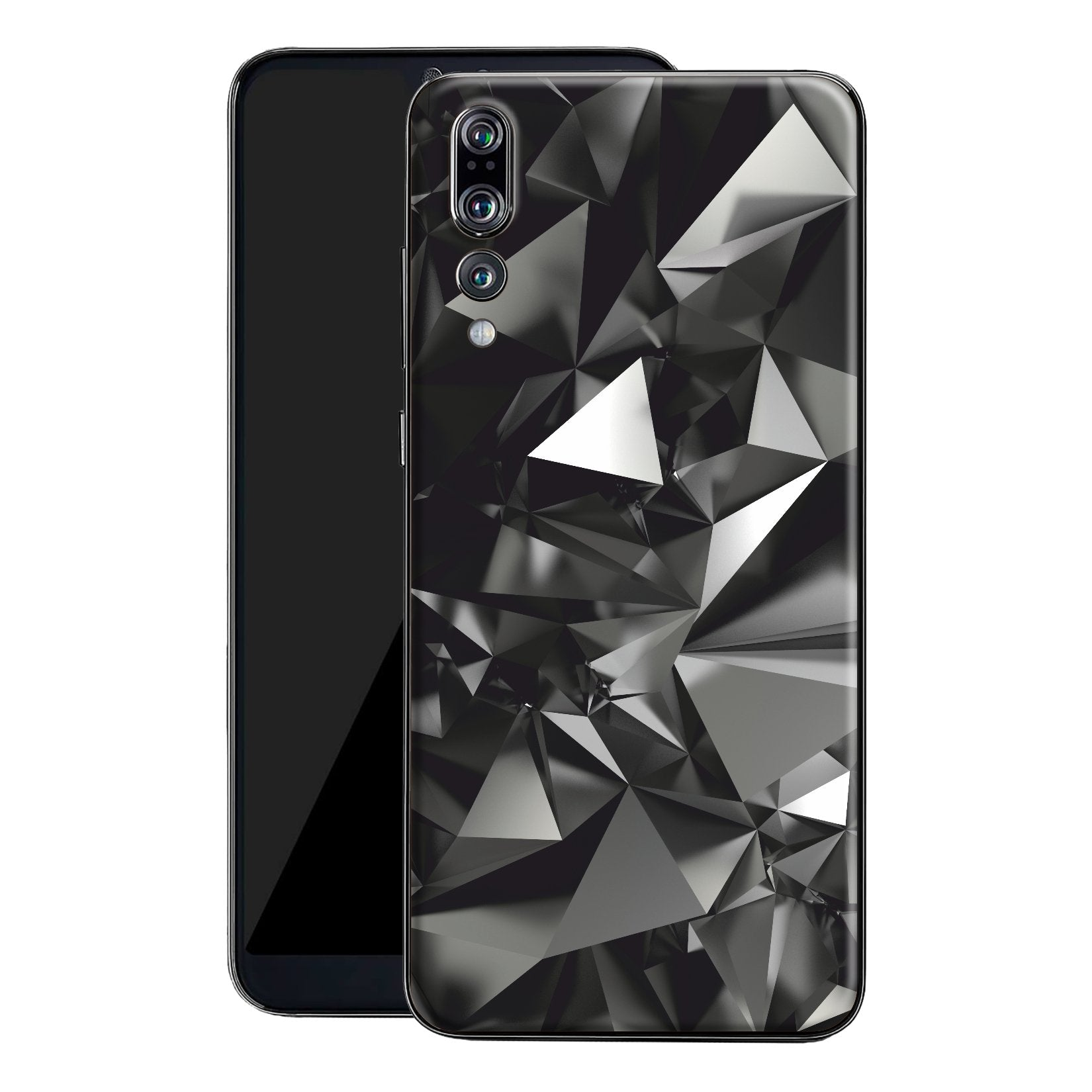 Huawei P20 PRO Print Custom Signature Black Crystals Skin Wrap Decal by EasySkinz