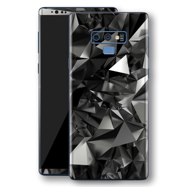 Samsung Galaxy NOTE 9 Print Custom Signature Black Crystals Crystal Skin Wrap Decal by EasySkinz