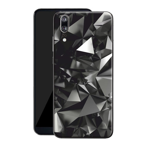 Huawei P20 Print Custom Signature Black Crystals Skin Wrap Decal by EasySkinz
