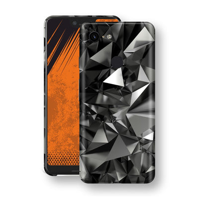 Google Pixel 3 XL Signature Black Crystals Skin Wrap Decal Cover by EasySkinz