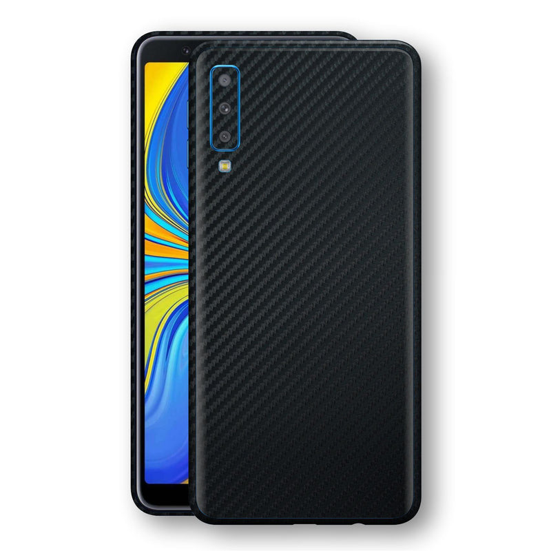 Samsung Galaxy A7 (2018) 3D Textured Black Carbon Fibre Fiber Skin, Decal, Wrap, Protector, Cover by EasySkinz | EasySkinz.com