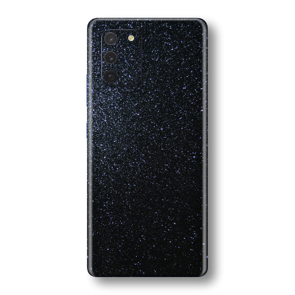 Samsung Galaxy S10 LITE Diamond Black Shimmering, Sparkling, Glitter Skin Wrap Sticker Decal Cover Protector by EasySkinz