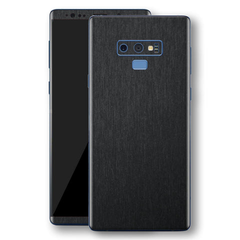 Samsung Galaxy NOTE 9 Brushed Black Metallic Metal Skin, Decal, Wrap, Protector, Cover by EasySkinz | EasySkinz.com