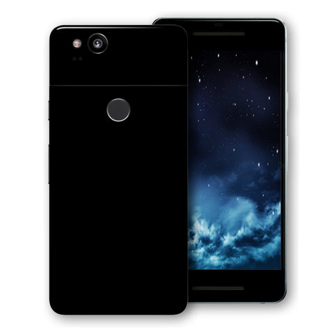 Google Pixel 2 Black Matt Skin, Decal, Wrap, Protector, Cover by EasySkinz | EasySkinz.com
