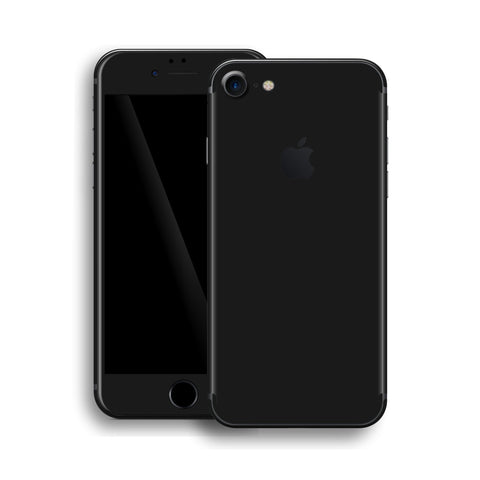 iPhone 8 DEEP BLACK Matt Skin Wrap Decal Protector | EasySkinz