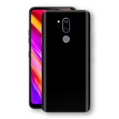 LG G7 ThinQ Black Glossy Gloss Finish Skin, Decal, Wrap, Protector, Cover by EasySkinz | EasySkinz.com