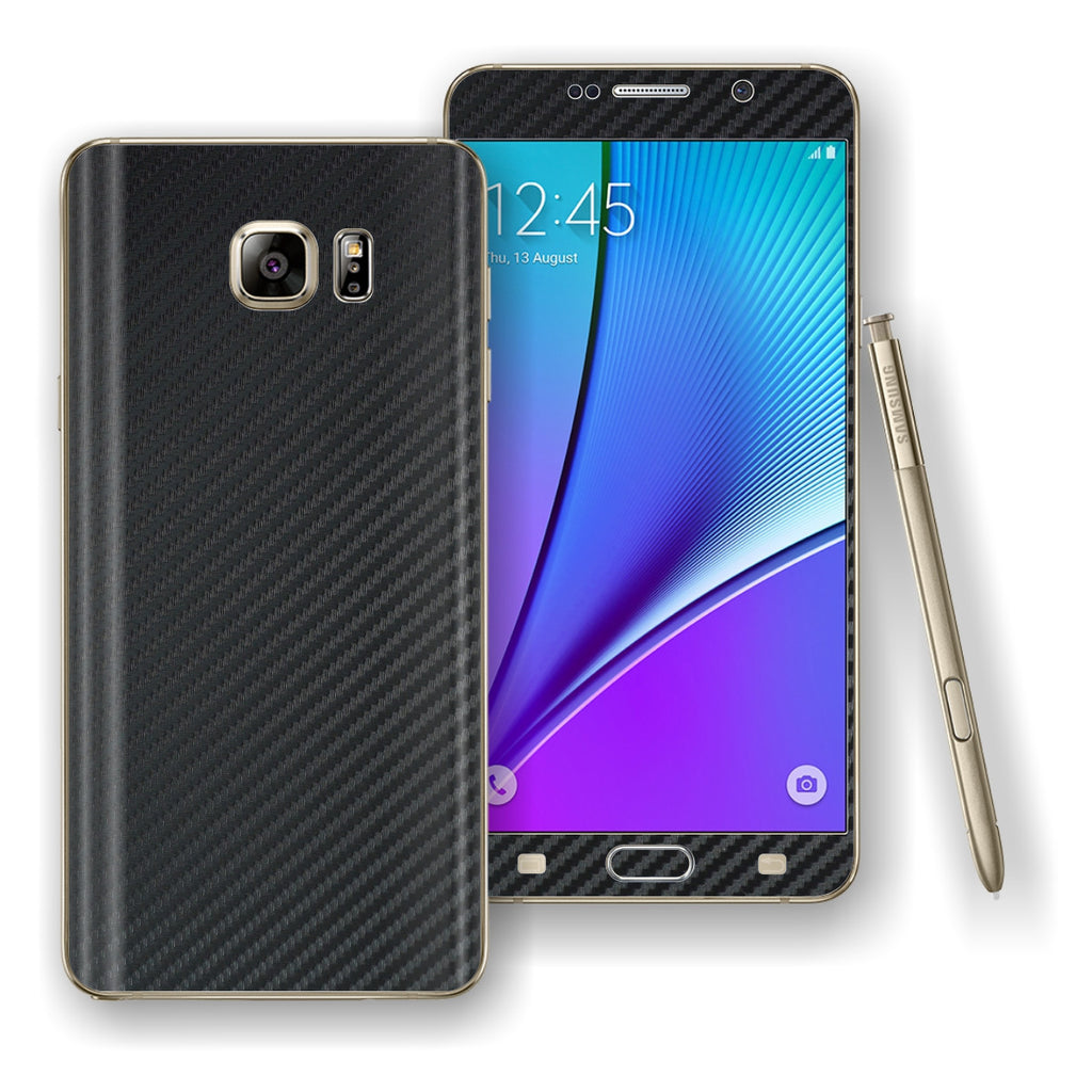 Samsung Galaxy NOTE 5 3D Textured CARBON Fibre Skin Wrap Decal Cover Protector by EasySkinz